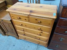 TALL 6 DRAWER PINE CHEST