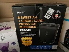 TEXET PAPER SHREDDER