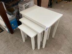 NEST OF 3 WHITE TABLES