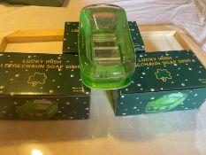 3 X LUCKY IRISH LEPRECHAUN SOAP DISHES