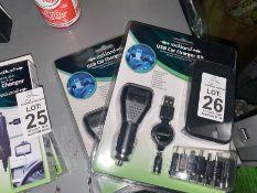 2X ROCKLAND USB CAR CHARGER KITS