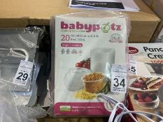 BABYPOTZ SET OF REUSEABLE POTS AND LIDS