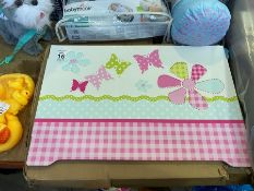 GIRLS FLAT PACKED TOY BOX