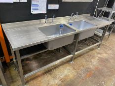 STAINLESS STEEL DOUBLE SINK UNIT *BRAND NEW*