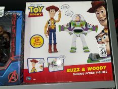 DISNEY PIXAR TOY STORY BUZZ AND WOODY ACTION FIGURES