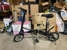 EXPRESS FIT FOLD UP BIKE (NEW) ALL AGES