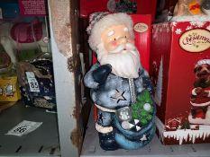 LARGE SANTA LIGHT UP CHRISTMAS ORNAMENT (NEW)