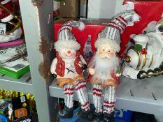 SNOWMAN AND SANTA CHRISTMAS ORNAMENTS (NEW)