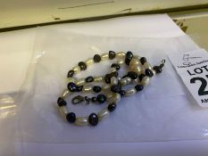 GREY & WHITE FRESH WATER PEARL NECKLACE
