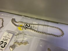 """SILVER STAMPED 16"""" FOXTAIL COLLAR NECKLET"""