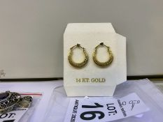 14 CARAT GOLD CREOLE EARRINGS
