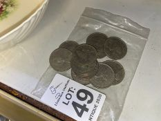 BAG OF ASSORTED DISCONTINUED 10 PENCE PIECES