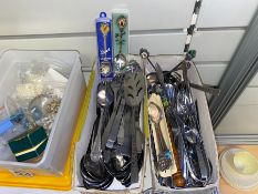 2X BOXES OF ASSORTED CUTLERY