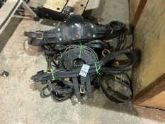 JOB LOT OF PONY DRIVING TACK LEATHER AND BRASS