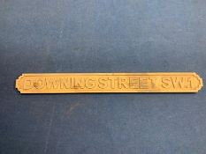 DOWNING STREET SW.1 WOODEN SIGN