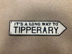 """IT'S A LONG WAY TO TIPPERARY"" CAST IRON SIGN"
