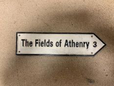 """THE FIELDS OF ATHENRY 3"" CAST IRON SIGN"