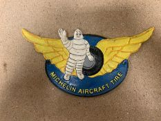 MICHELIN AIRCRAFT TIRE CAST IRON SIGN