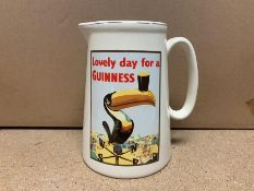 "LARGE ""LOVELY DAY FOR A GUINNESS"" MILK JUG"