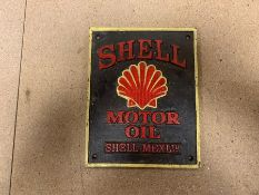 SHELL MOTOR OIL CAST IRON SIGN