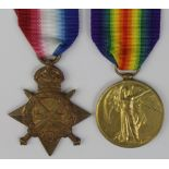 1915 Star and Victory Medal to 17167 Pte P Edwards E.Lanc.R. Died of Wounds 3/7/1916 with the 1st