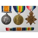1914 Star Trio to 2615 Pte G F Fickling 1/Herts R. Entitled to the Clasp & Rosette. (3)
