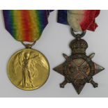 1915 Star and Victory Medal to L-10545 Pte J Sorrell R.W.Kent.R. KIA 22nd July 1916 with the 1st Bn.