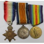 1915 Star Trio to 3387 Pte A J Talbot 1-Co.of.London Yeomanry (2.Lieut A J Talbot on pair).