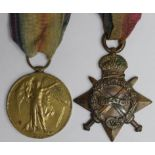 1915 Star and Victory Medal to 15642 Pte W Taylor Oxf & Bucks L.I. served with the 8th Bn. (2)