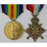 1915 Star and Victory Medal to 8972 C.S.May J Palmer Essex Regt. KIA 20/7/1916 with the 10th Bn.