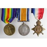 1915 Trio to 3/9008 Pte Louis Woodard, 7th Bn Suffolk Regt. KIA 09.08.16 at Ration Trench, near