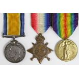 1915 Star Trio to PS-7183 Pte H Bill Royal Fusiliers. KIA 14/11/1916 with the 10th Bn. Born