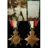 1915 Star to Capt Duncan Lennox Martin, 9th Bn. Devonshire Regt. KIA 1st July 1916, First Day Battle
