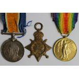 1915 Star Trio to 231873 A Martin LS RN. Born Woolwich, Kent. (3)