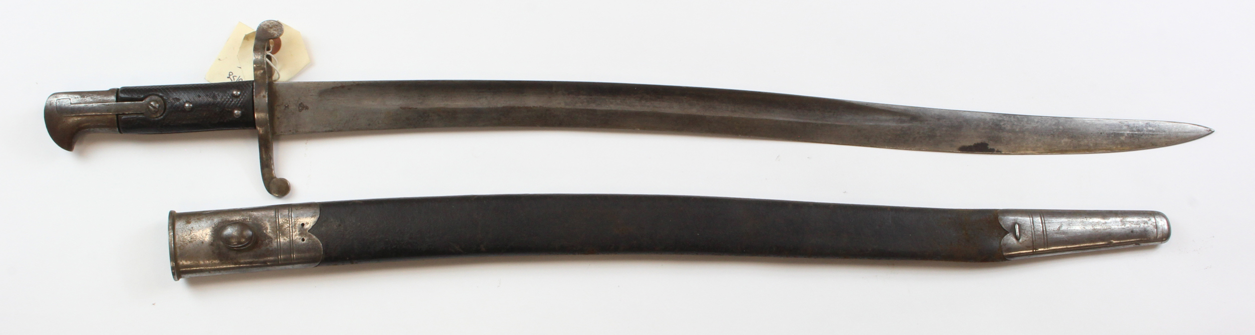 "Lot 1044 - Bayonet - British Pattern 1856 Sword Bayonet. Blade 23"". Ricasso with WD mark, bend test and dated"