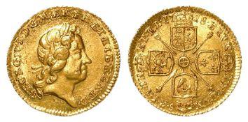 Quarter Guinea 1718 UNC, a couple of die flaws obv.