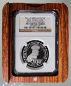 Platinum 1oz: 100th Anniversary of the First World War - Outbreak 2014 UK £100 slabbed NGC PF 70