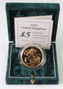 Five Pounds 1997 BU boxed as issued
