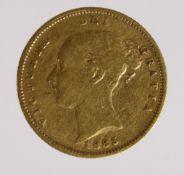 Half Sovereign 1885/3 GF