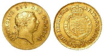 Half Guinea 1808 EF