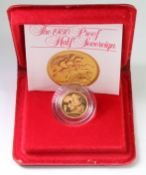 Half Sovereign 1980 Proof FDC cased as issued