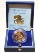 Half Sovereign 1988 Proof FDC boxed as issued