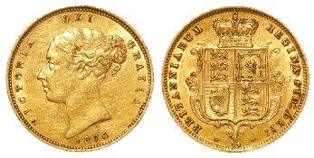 Half Sovereign 1878 VF, light scratches.