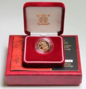 Half Sovereign 2001 Proof FDC cased as issued