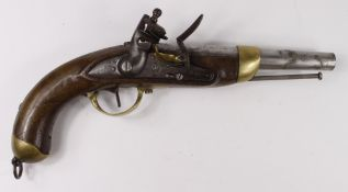 Patt 1822 French Military Pistol, Belgium-made, Ottoman Turkish contract. Approx 16 bore, military