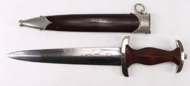 German SA Rohm inscription dagger with scabbard, good example, Aesclap, Tuttlingen maker marked,