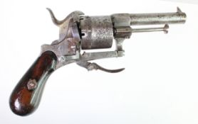 19th Century Belgium pin fire pocket revolver nice gun all complete and in working condition.
