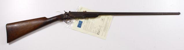 "Belgian .410 Poachers folding Shotgun, barrel 26"", side leaver folds gun in half for storing in a"
