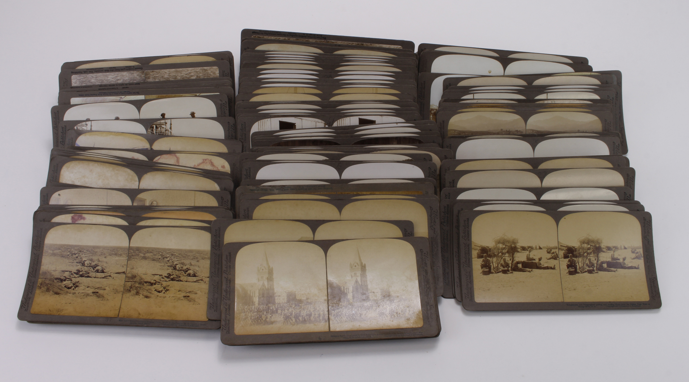 Boer War Stereoscope slides by Underwood and Underwood. (approx 127)