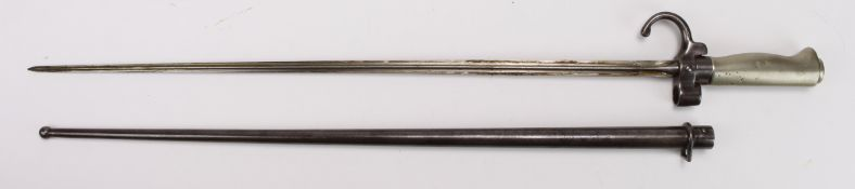 French M1886 Epee Lebel Bayonet with scabbard